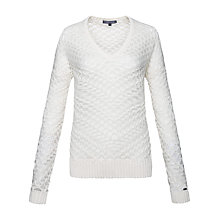 Buy Tommy Hilfiger Ivita Jumper, Snow White Online at johnlewis.com