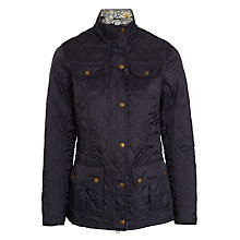 Buy Barbour Manderston Quilted Jacket, Navy Online at johnlewis.com
