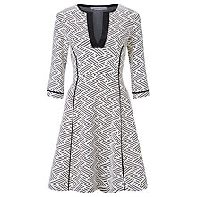 Buy Marella Jacquard Jersey Dress, Off White Online at johnlewis.com