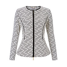 Buy Marella Jacquard Jersey Jacket, Off White Online at johnlewis.com