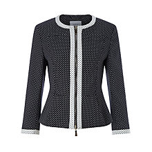 Buy Marella Allora Jacquard Jacket, Black Online at johnlewis.com