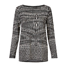 Buy Marella Print Jersey Top, Black Online at johnlewis.com