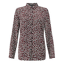 Buy Gerry Weber Printed Shirt, Black/Off White Online at johnlewis.com