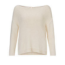 Buy Marella Bow Detail Textured Sweater, Cream Online at johnlewis.com