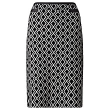 Buy Gerry Weber Aztec Pencil Skirt, Black/Ecru Online at johnlewis.com