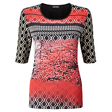 Buy Gerry Weber Printed Jersey Top, Black/Red Online at johnlewis.com