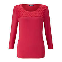 Buy Gerry Weber 3/4 Sleeve Jersey Top, Hibiscus Online at johnlewis.com