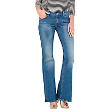Buy Lee Annetta Slim Fit Flared Jeans, Caribbean Ocean Online at johnlewis.com