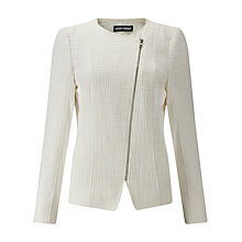 Buy Gerry Weber Zip Through Jacket, Mother of Pearl Online at johnlewis.com