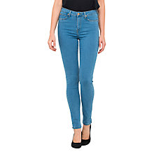 Buy Lee Skyler High Waist Skinny Jeans, Blue Shadow Online at johnlewis.com