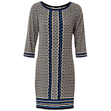 Buy Max Studio Geo Panel Jersey Dress, Black/Blue Online at johnlewis.com
