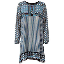 Buy Max Studio Contrast Flower Print Dress, Blue/Black Online at johnlewis.com