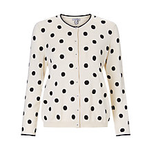 Buy Marella Spot Cardigan, Wool White Online at johnlewis.com