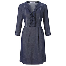 Buy Marella Ruffle Denim Dress, Navy Online at johnlewis.com