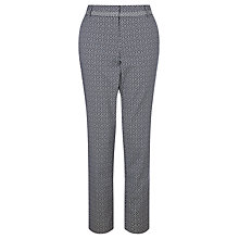 Buy Marella Jacquard Trousers, Midnight Blue Online at johnlewis.com