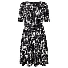 Buy Gerry Weber Graphic Print Dress, Black/Ecru Online at johnlewis.com