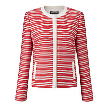 Buy Gerry Weber Stripe Jacket, Red/Ecru Online at johnlewis.com