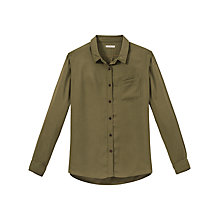 Buy Lee Long Sleeve Pocket Shirt, Army Green Online at johnlewis.com