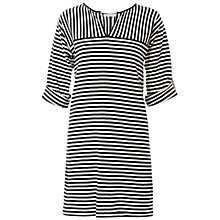 Buy Max Studio Striped Jersey Dress, Navy/Ivory Online at johnlewis.com