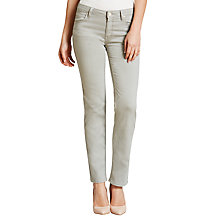 Buy Lee Marion Straight Leg Jeans, Light Grey Online at johnlewis.com