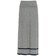 Buy Max Studio Printed Jersey Maxi Skirt, Black/Blue Online at johnlewis.com