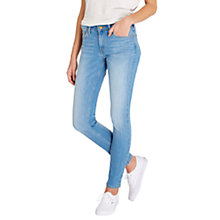 Buy Lee Scarlett Regular Waist Skinny Jeans, Bright Blue Online at johnlewis.com