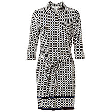 Buy Max Studio Printed Jersey Shirt Dress, Black/Blue Online at johnlewis.com