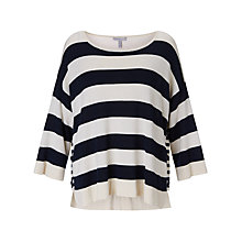 Buy Marella 3/4 Sleeve Stripe Knit, Cream Online at johnlewis.com
