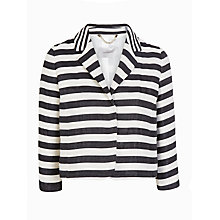 Buy Marella Talpa Stripe Jacket, White/Black Online at johnlewis.com