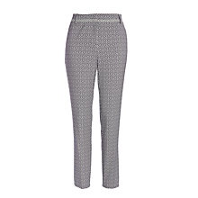 Buy Marella Lesana Slim Leg Jacquard Trousers, Navy Online at johnlewis.com