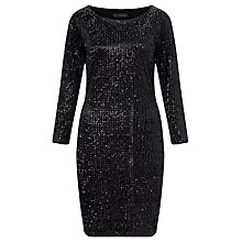 Buy Minimum Diona Sequin Dress, Black Online at johnlewis.com