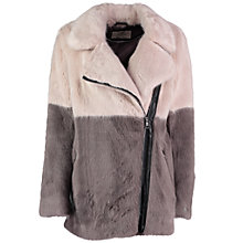 Buy Urbancode Melissa Faux Fur Coat, Piglet Shadow Online at johnlewis.com