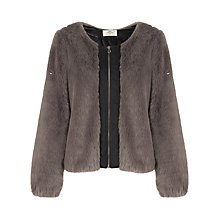 Buy Urbancode Elle Faux Fur Coat, White Tones Online at johnlewis.com