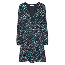 Buy Mango Belt Printed Dress, Billiard Green Online at johnlewis.com