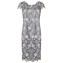 Buy Jacques Vert 3 Colour Lace Dress, Dark Grey Online at johnlewis.com