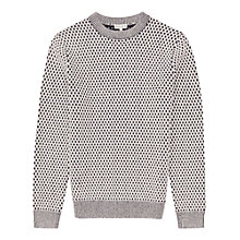 Buy Reiss Palace Contrast Knit Jumper, Navy/White Online at johnlewis.com