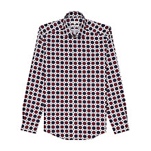 Buy Reiss Blenham Spot Slim Fit Shirt, Red Online at johnlewis.com