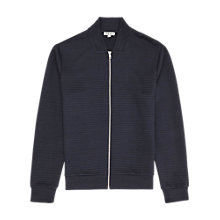Buy Reiss Fool Contrast Zip Jumper, Navy Online at johnlewis.com