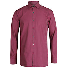 Buy Ted Baker Helmer Mini Cross Print Shirt, Red Online at johnlewis.com
