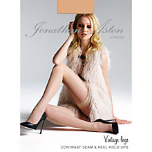 Buy Jonathan Aston Contrast Seam and Heel Hold Ups, Nude/Black Online at johnlewis.com