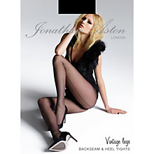 Buy Jonathan Aston Back Seam and Heel Tights, Black Online at johnlewis.com