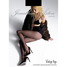 Buy Jonathan Aston Fishnet Back Seam Tights, Black Online at johnlewis.com