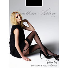 Buy Jonathan Aston Back Seam and Heel Stockings, Black Online at johnlewis.com