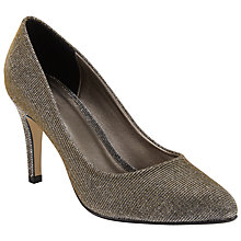 Buy John Lewis Blushing High Heeled Court Shoes, Gold Online at johnlewis.com