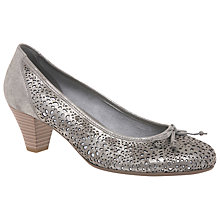 Buy Gabor Highland Cone Heeled Court Shoes, Beige Online at johnlewis.com