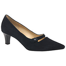 Buy Gabor Charity Pointed Toe Cone Heel Court Shoes, Navy Online at johnlewis.com