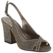 Buy John Lewis Darling Block Heeled Sandals, Gold Online at johnlewis.com