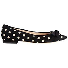Buy L.K. Bennett Millye Flat Pointed Ballerina Pumps, Black/White Pony Online at johnlewis.com