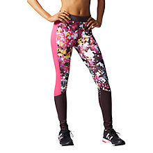 Buy Adidas Techfit Floral Print Long Training Tights Online at johnlewis.com