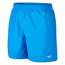"Buy Speedo Men's Solid Leisure 16"" Watershorts, Blue Online at johnlewis.com"